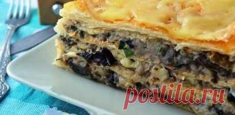Необычный рецепт соленой закуски - Наполеон с картофельно-грибным кремом