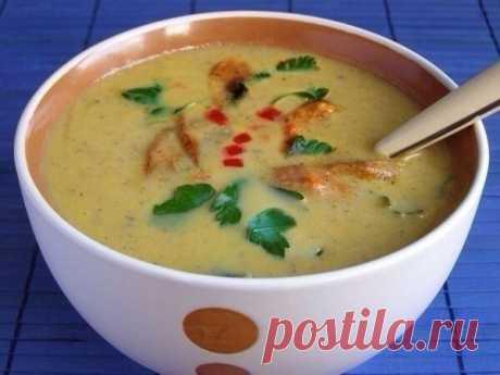 Грибной крем-суп с курицей и сельдереем — Мегаздоров