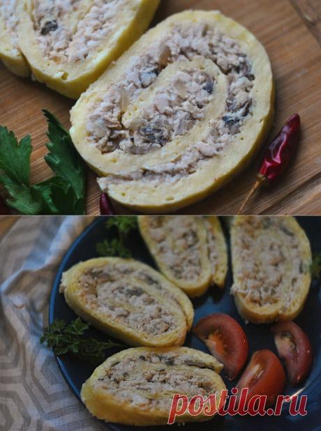 Блюдо, достойное новогоднего стола- сырный рулет с курицей. | Домик на берегу поля | Яндекс Дзен