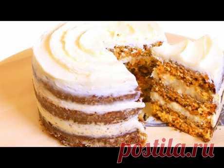 Морковный торт с сырным кремом - пошаговый рецепт с фото на Повар.ру
