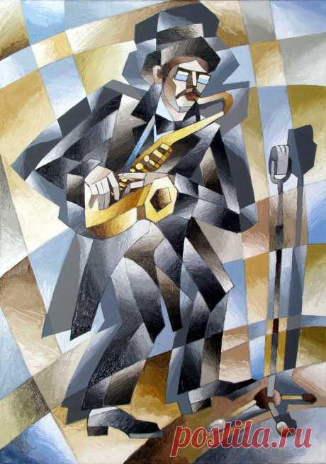 Саксофонист 2016 70х50 х.м.