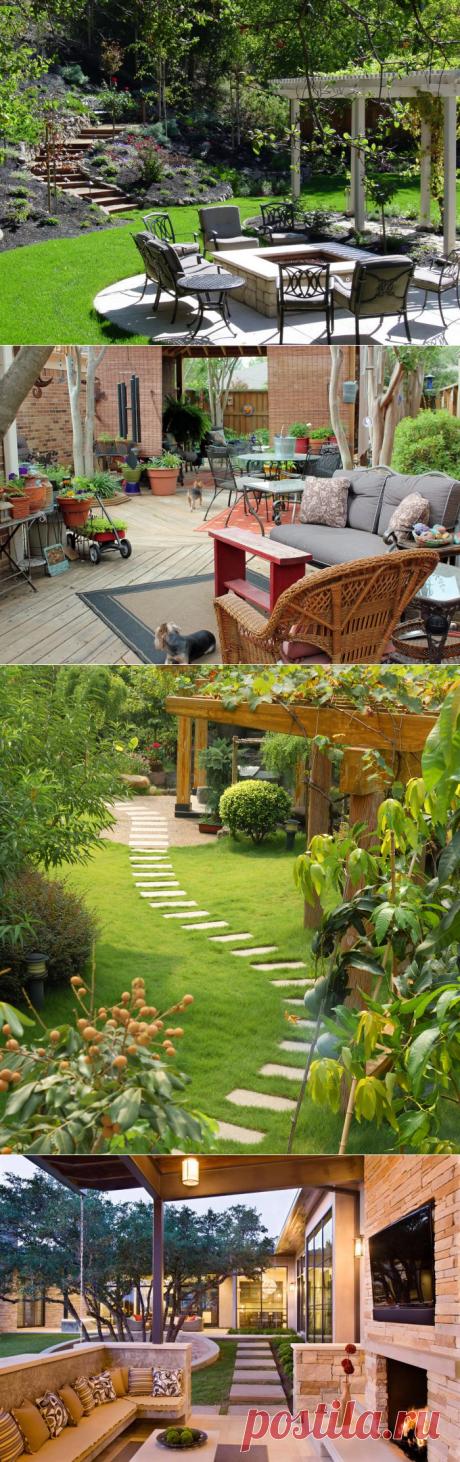 Дизайн двора частного дома (43 фото): создаем уютное пространство