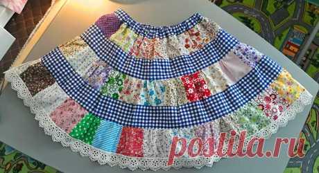 Сшила дочери юбку, которая может заменить почти весь летний гардероб | Бесконечно захватывающий быт | Яндекс Дзен