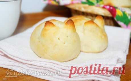 Пасхальные булочки в форме кроликов - рецепт с фото