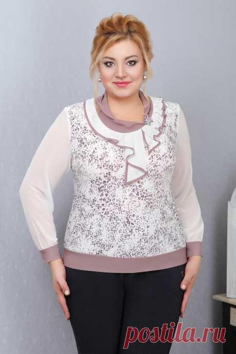 Блузы больших размеров: купить женскую блузку в интернет-магазине Знатная Дама | Страница 6