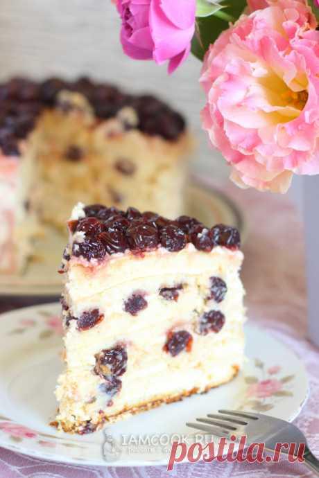 Торт «Молочная девочка» с вишней — рецепт с пошаговыми фото и видео