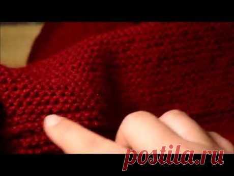 Соединение снуда  в кольцо трикотажным швом. Как сшить вязаное полотно.