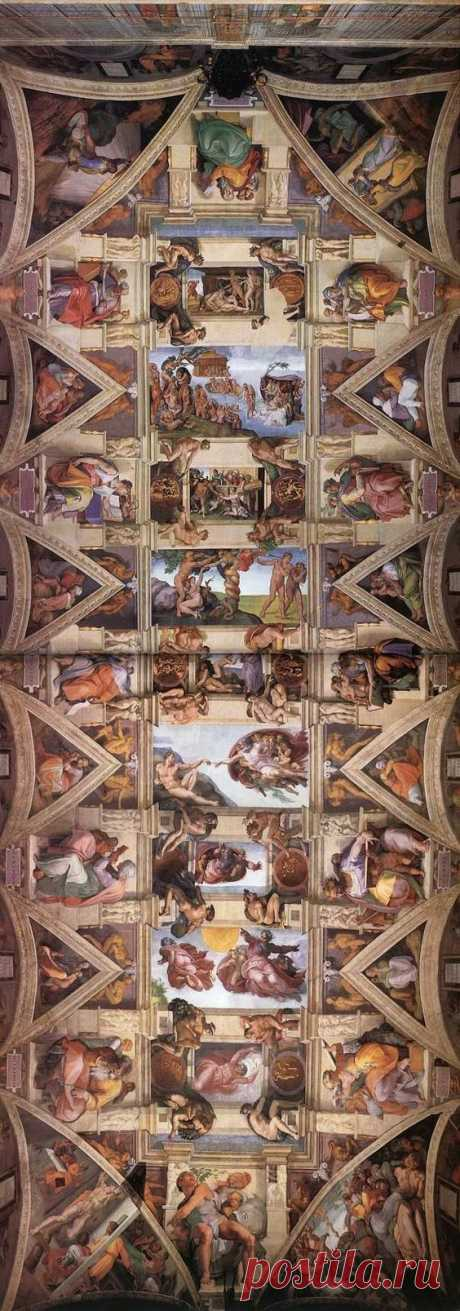 ~Michelangelo's famous ceiling in the Sistine Chapel, Vatican City | House of Becaria #CityHouse  |  Pinterest
