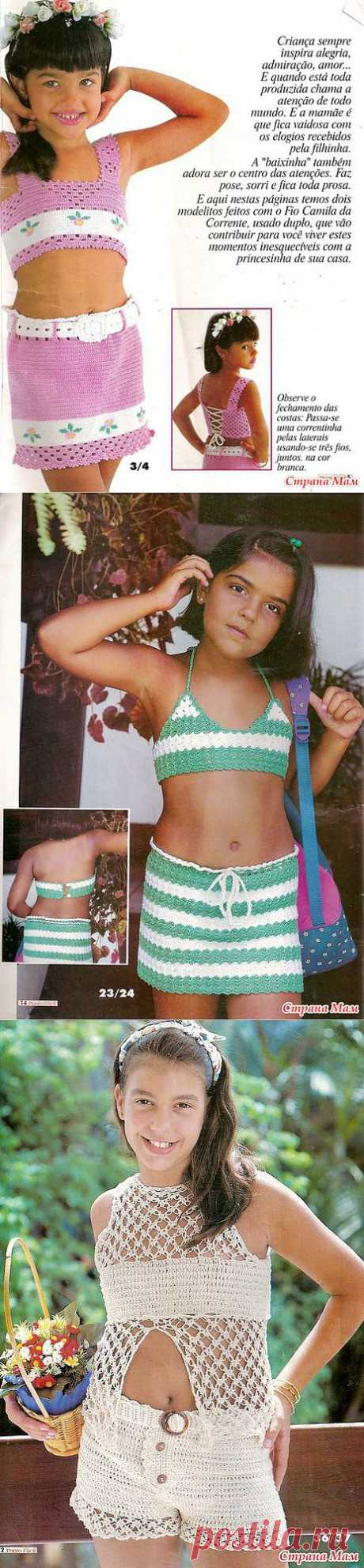Топики с юбочками для девочек.