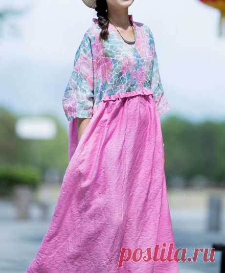 Summer linen long dress skater dress plus size maxi dress | Etsy