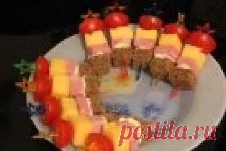 Ветчина на шпажках - пошаговый рецепт с фото на Повар.ру