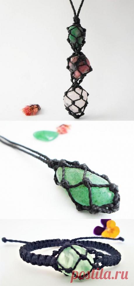 Мужские украшения из натуральных камней