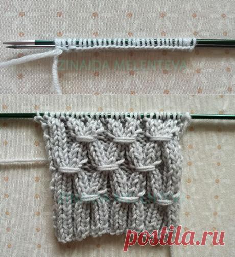 Как связать резинку с обвитыми петлями | 1000 идей для вязания спицами | Яндекс Дзен