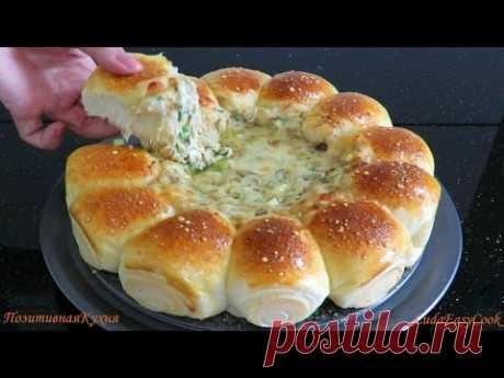 ☀БУЛОЧКИ РОЛЛЫ с СЫРНЫМ ДИП☀ соусом с грибами 💢 Dinner buns with cheese dipping sauce - YouTube