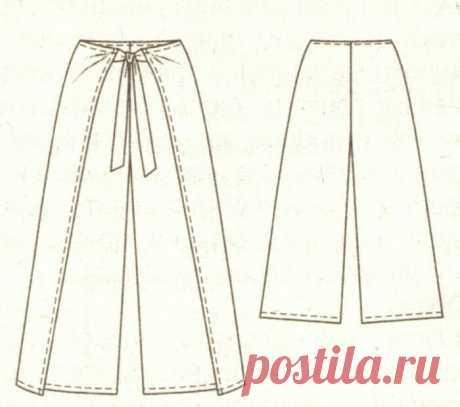 Выкройка летних брюк на запАх / Простые выкройки / ВТОРАЯ УЛИЦА