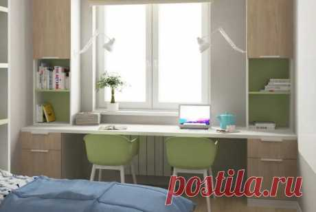 Стол у окна в детской комнате фото для двоих: виды, фото, модели и варианты установки —  —