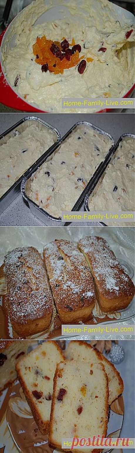 El bizcocho con pasas caseoso »las Recetas de cocina