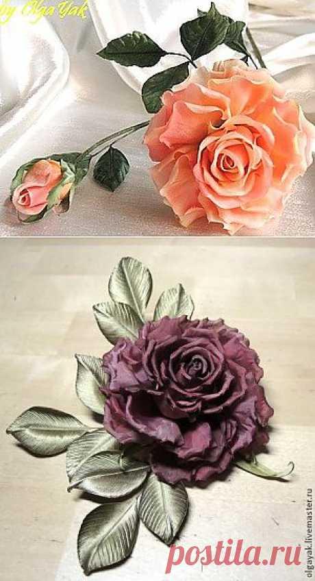 Роза из ткани. Простая, но эффектная | Умелые ручки
