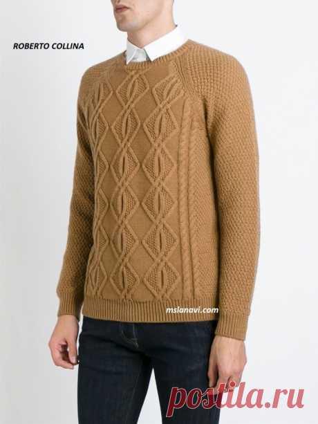 Мужской вязаный свитер | Вяжем с Лана Ви