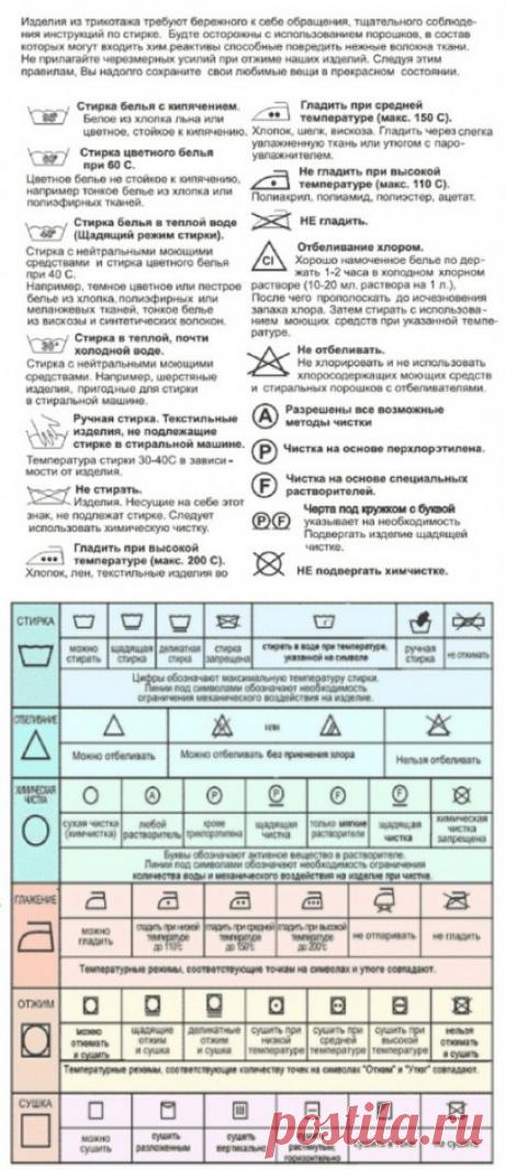 Знаки для стирки и глажки: читаем этикетки на одежде — Полезные советы