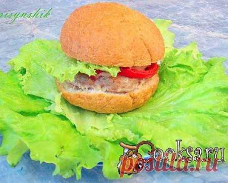 Чизбургер с котлетой и запеченными овощами рецепт с фото