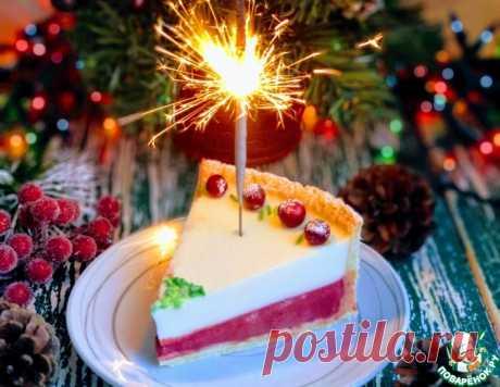 Клюквенный тарт с панна-коттой – кулинарный рецепт