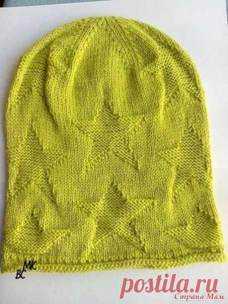 "Shapochka-bini shadow pattern of \""star\"" (Knitting by spokes) | Inspiration of the Needlewoman Magazine"