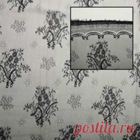 Шантильи - темно-синий - купить ткань онлайн через интернет-магазин ВСЕ ТКАНИ