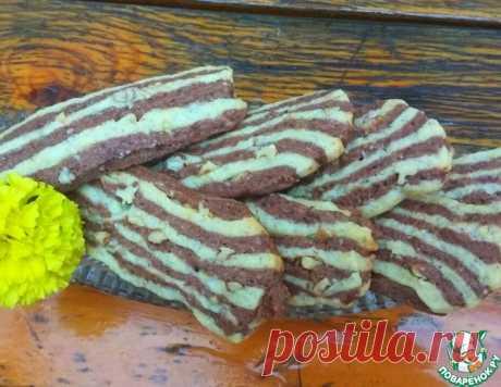 """Печенье с орехом """"Полосатое"""" – кулинарный рецепт"""