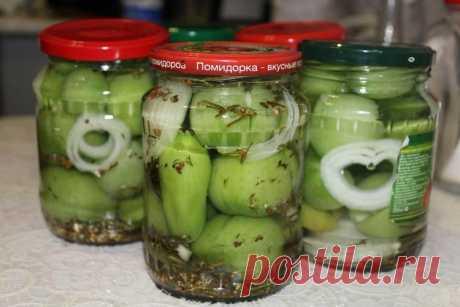 Los tomates verdes para el invierno - las recetas Simples Овкусе.ру