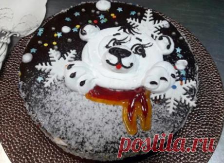"""Домашний торт """"Мишка на севере"""" - просто тает во рту"""