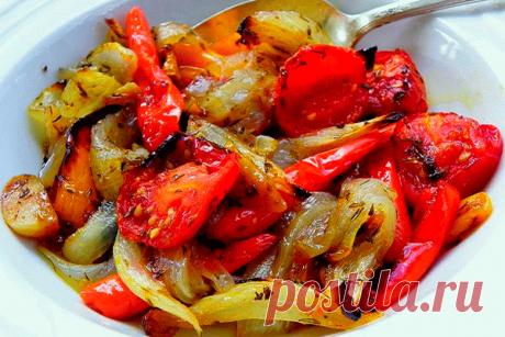 Фантастические вкусные овощи, запечённые в маринаде