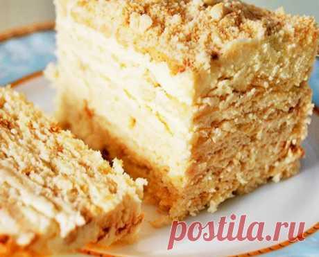 Нежный и тающий во рту торт без выпечки от Вкусняшек