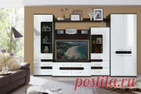 Модульная гостиная Соренто-1 (Мебель Маркет) купить недорого в Москве с доставкой | Стенки для гостиной