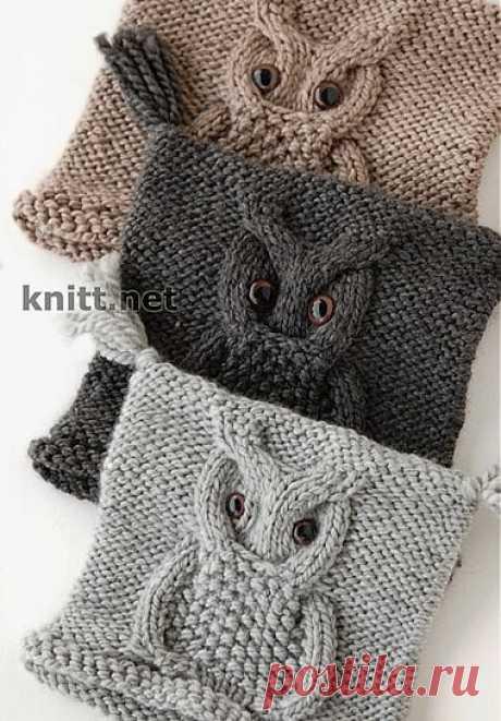 Образец узора «сова» | knitt.net | Все о вязании