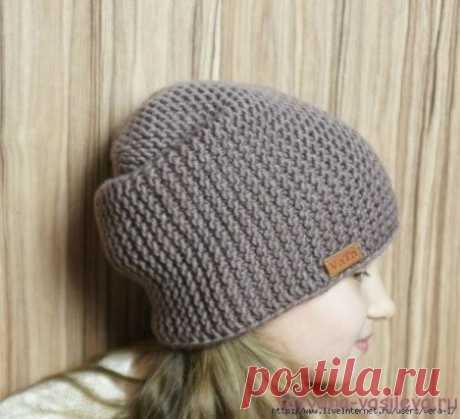 Шапка - бини Размер шапки-бини: на окружность головы 56-58 см, высота шапочки 28 см.