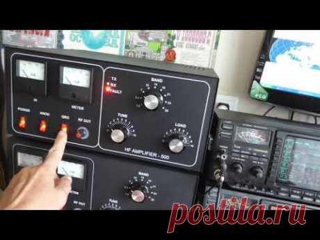 Усилитель мощности КВ на 2 х ГУ- 72 с ALC версия V -4 - YouTube