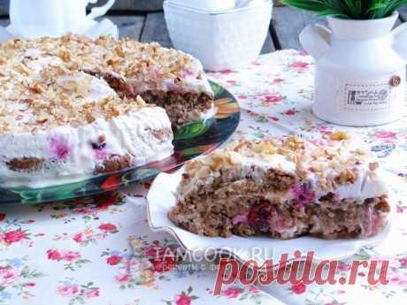 La torta de las galletas de avena sin cocción - tierno, admirable e infinitamente perfumado
