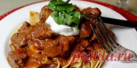 Beef goulash - the recipe of preparation with a photo. How to cook tasty goulash with beef