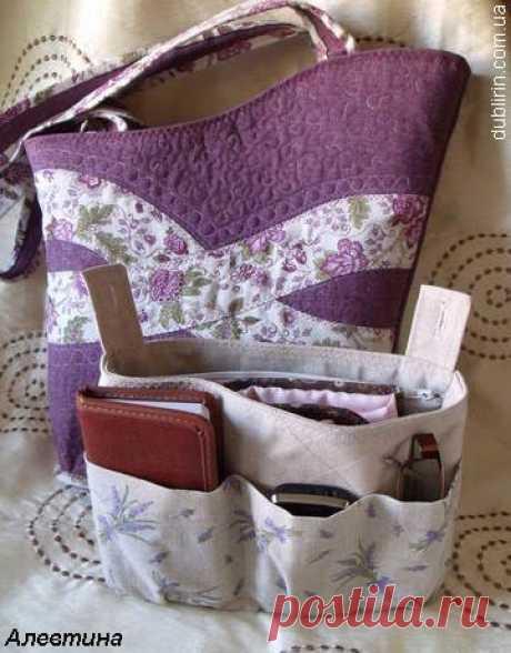 Dublirin-Шьем сами - Вкладыш в сумку для мелочей