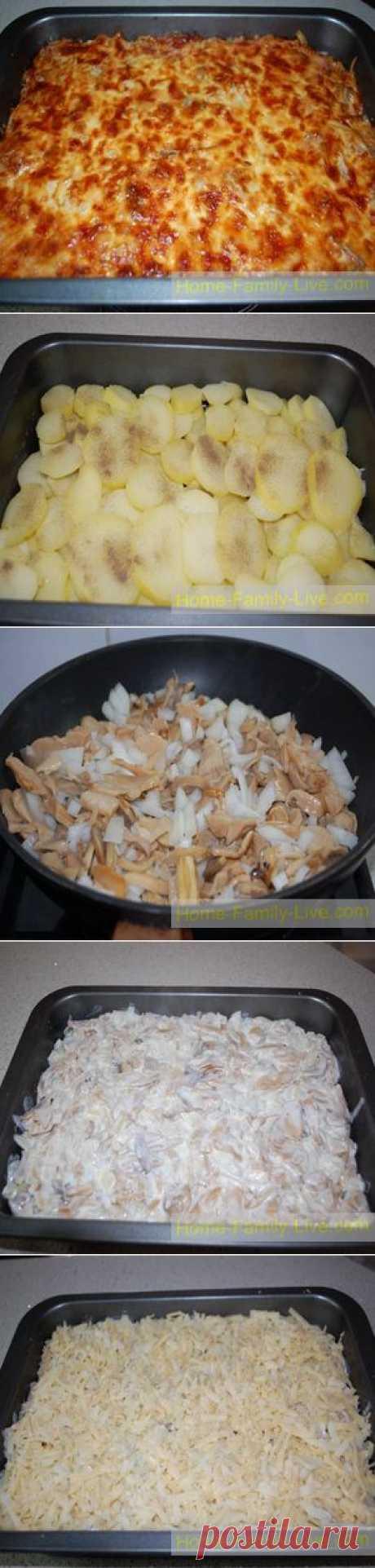 Запеченная картошка с грибами - Кулинарные рецепты