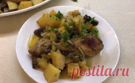 Картошка с мясом в рукаве в духовке (рецепт с фото)