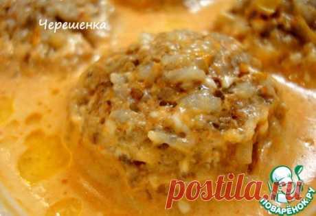 Тефтели с грибами в томатно-сметанном соусе - кулинарный рецепт