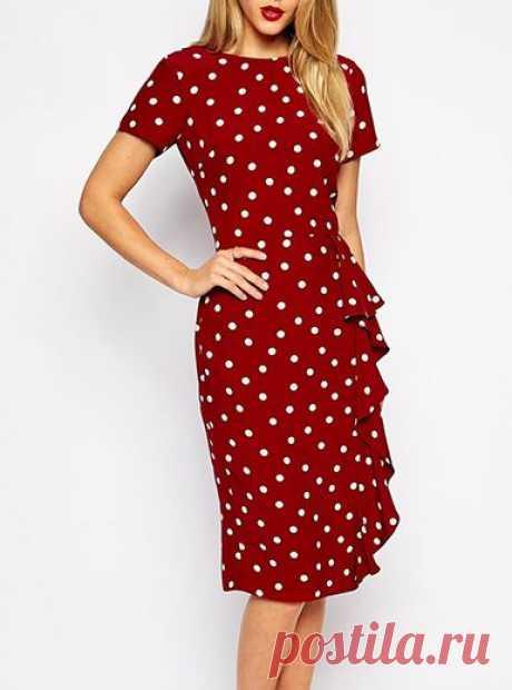 Красивое платье с воланом на любой размер — Сделай сам, идеи для творчества - DIY Ideas