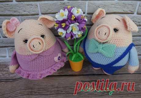 Свинки Даша и Аркаша крючком | Схемы амигуруми