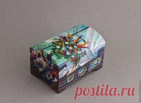 Купить деревянная шкатулка,,роспись мебели,шкатулка с росписью - шкатулка, шкатулка для украшений, авторская шкатулка