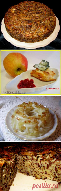 Рецепты двух лапшевников на выбор : печеночный или яблочный. Вкусно! |