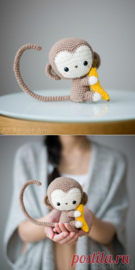 Амигуруми обезьянка крючком: схема игрушки