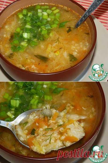 Овощной суп с пшенной крупой.