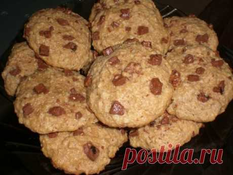 Овсяное печенье с шоколадом — Мегаздоров
